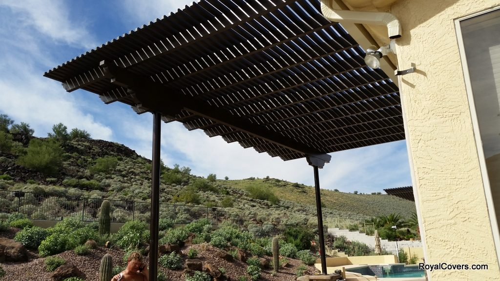 Alumawood Lattice Patio Cover installed by Royal Covers of Arizona in Glendale, AZ.