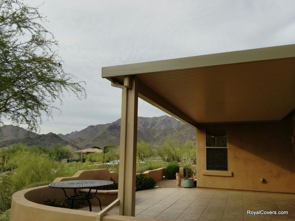 Patio cover installed by Royal Covers of Arizona - Alumawood installer Scottsdale, AZ.