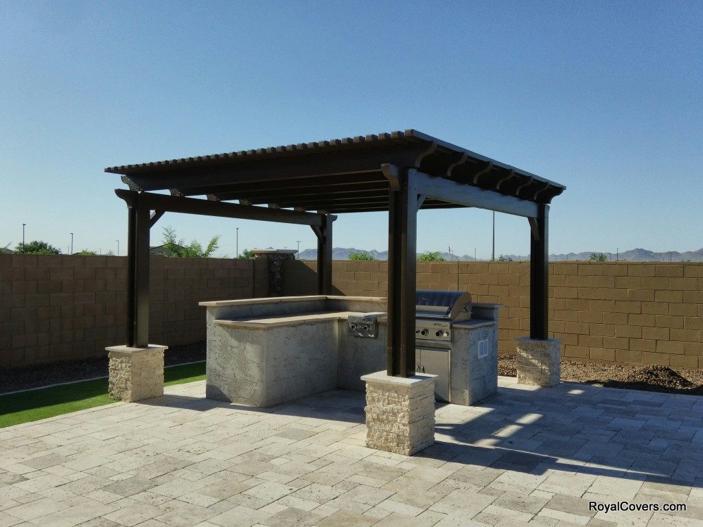 Freestanding alumawood pergola in gilbert az for Freestanding patio cover