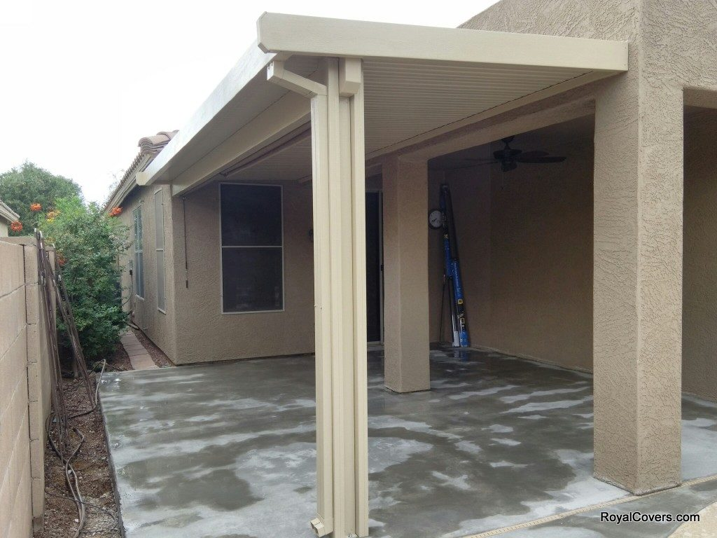 Patio covers installed by Royal Covers of Arizona in San Tan Valley, AZ.