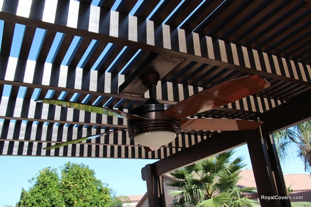 After - Wooden patio cover replacement in Gilbert, AZ.