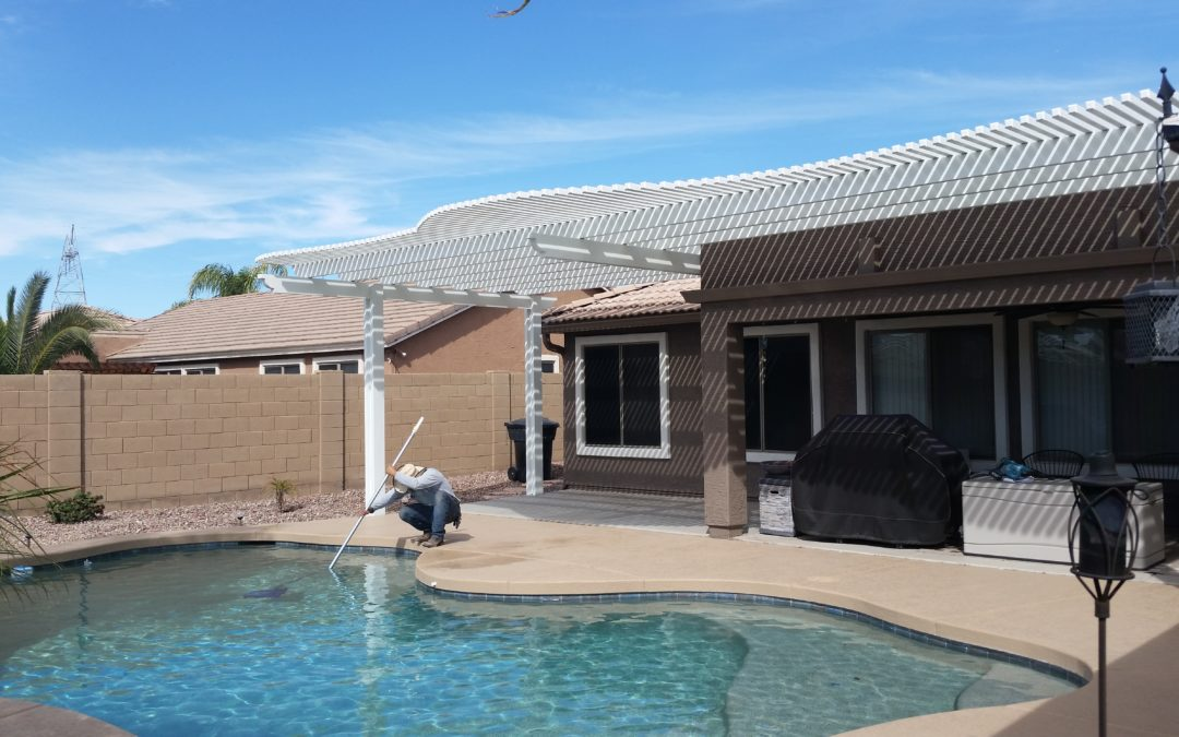 Home Patio Cover Extension By Pool in Mesa, AZ 85212