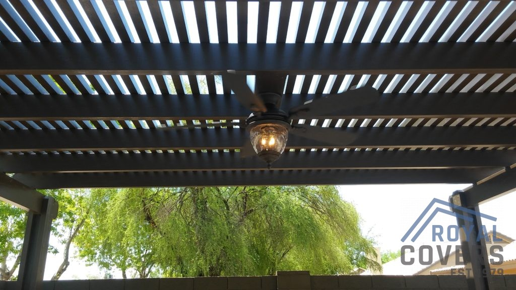 Pergola over outdoor built in grill station - Royal Covers of Arizona
