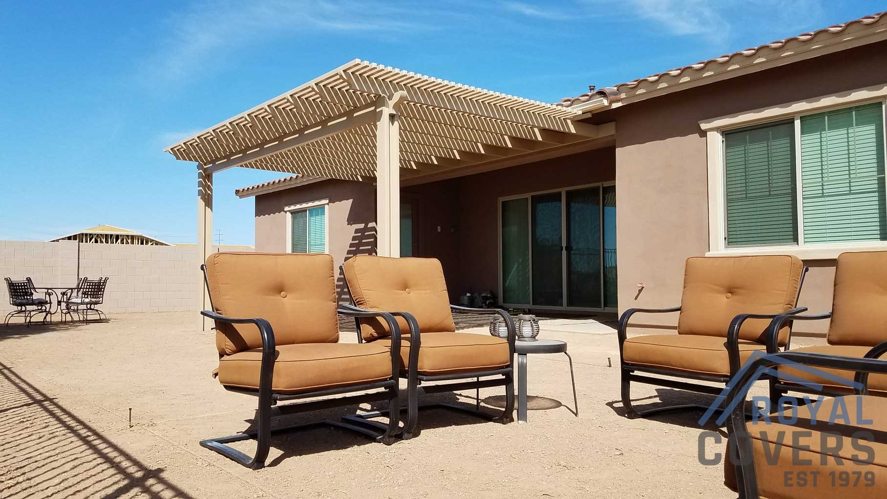 Alumawood Patio Cover Extension In Chandler Az Royal Covers