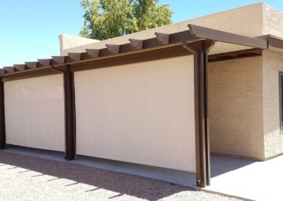 Exterior Roll Down Shades