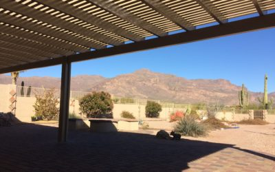Alumawood Patio Cover with Mountain Views