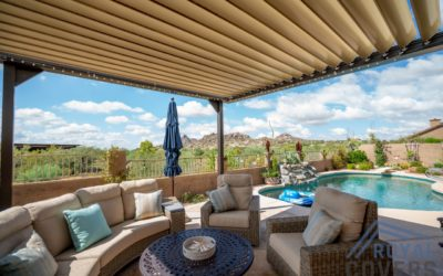 Equinox Louvered Roof with a view in Scottsdale, AZ